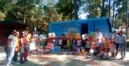 Alanya'da çocuklardan barınağa ziyaret