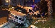 Alanya'da feci kaza! Şans eseri yaralanan olmadı