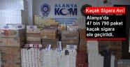 ALANYA'DA KAÇAK SİGARAYA BÜYÜK DARBE