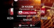 Alanya'da Öğretmenler Günü'ne özel online konser