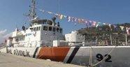 Alanya'da Sahil Güvenlik Gemisi ziyarete açıldı
