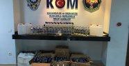 Alanya'da sahte içki operasyonu: 117 şişe ele geçirildi
