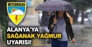 Alanya'ya yağmur uyarısı!