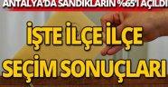 Antalya'da sandıkların yüzde 65'i açıldı