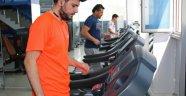 ASFİM'de hijyenik ve mesafeli spor başladı