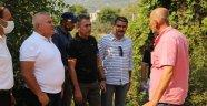 Başkan Şahin Alanya'daki yangın bölgesindeydi