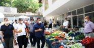 Başkan Yücel, Gedevet'te pazarı denetledi