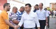 Belediye başkanı Yücel vatandaşlarla bayramlaştı