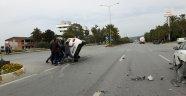 Bu kazadan burunları bile kanamadan kurtuldular!