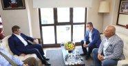 Davutoğlu ve Böcek'ten, Başkan Şahin'e ziyaret