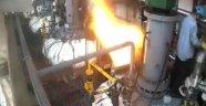 Fabrikada Çalışan İşçi Patlamada Çıkan Ateş Topu ile Havaya Uçtu!