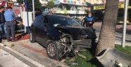 Kestelsporlu futbolcu kaza yaptı