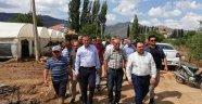 MHP Antalya Milletvekili Abdurrahman Başkan ve yönetimi Elmalı'da incelemede bulundu