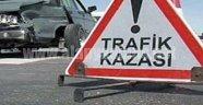 MOTOSİKLET KAZASINDA İKİ KİŞİ YARALANDI