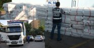 POLİS KAMYON DOLUSU SİGARA ELE GEÇİRDİ