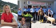 POLİSLER NAZARA KARŞI ADAK KURBANI KESTİ