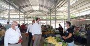 Toklu ve yönetiminden pazarcı esnafına ziyaret