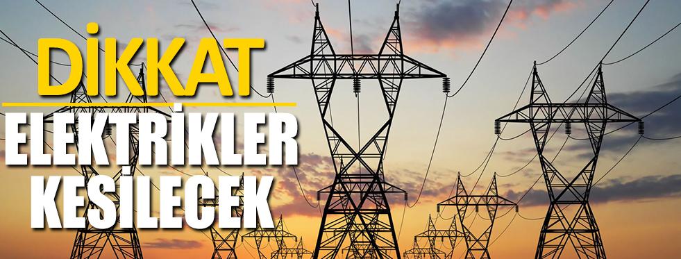Planlı Elektrik Kesintisi Uyarısı