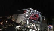 Yolcu Otobüsü, Kamyona Çarptı: 1 Ölü, 20 Yaralı