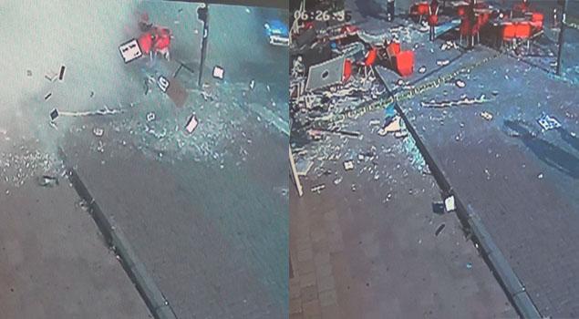 Patlama anı kameralarda